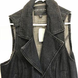 Forever 21 cropped denim vest